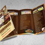Impresión de menús flyers para restaurantes
